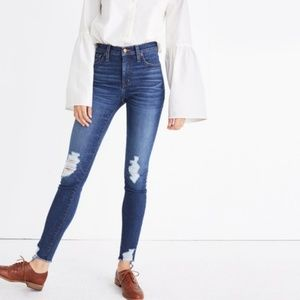 """Madewell 9"""" High-Rise Skinny Jeans: Destructed"""